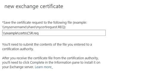 save this certificate request file