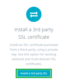 Installs SSL on BigCommerce