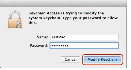 system keychain in Mac OS X Lion 10.7 Server