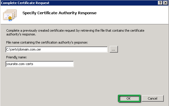 Microsoft Office 365: Install SSL Certificate Using IIS7