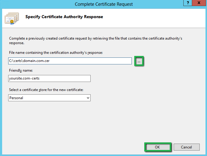 Office 365 Install Ssl Certificate Using Iis 8 85