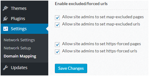enable forced urls