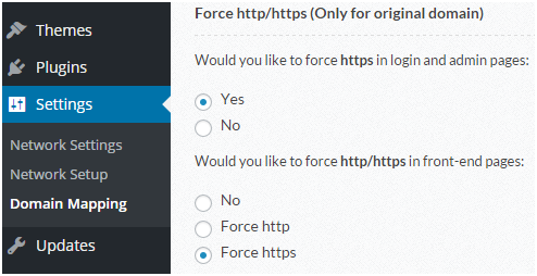 force https for original domain
