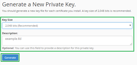 How to Generate Private Key and CSR in cPanel?