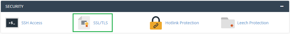 SSL/TLS in cPanel