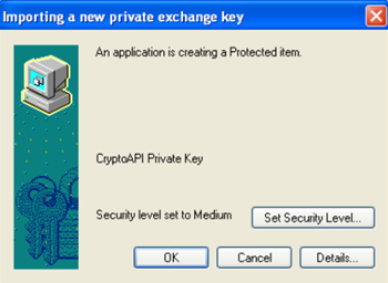 storing private key