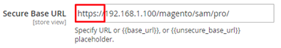change the URL from http to https in the selected base urls